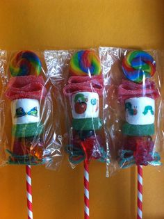 kids party favor candy kabobs 50 Personalized candy kabob skewer children's by FeteSetter, $150.00