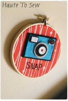 SO cute! sew, snap, hoop camera, camera idea