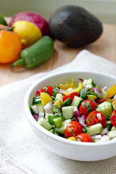 Spicy Israeli Salad
