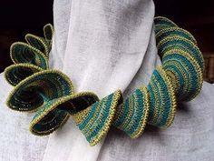 crochet scarf with pattern in Dutch