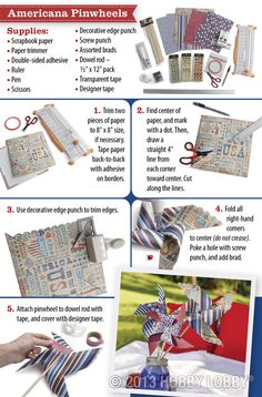 Create these pinwheels to keep your group entertained this Fourth of July!