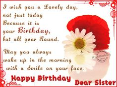 happy birthday sister | Birthday Wishes for Sister - Birthday Images, Pictures birthday card, card birthday, birthday quotes for niece, birthday wishes, happy birthdays, happy birthday nephew, birthday gift, birthday quotespictur, happi birthday