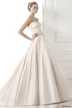 Pronovias #bridal 2015 pre-collection: bluma taffeta strapless princess #wedding dress with pockets. #weddinggown #weddingdress