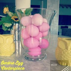 DIY video instructions here for making an #ombre  egg centerpiece for #easter http://youtu.be/oozpDF7XYM0