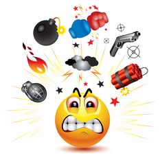 Angry Emoticon - Sometimes words cannot do justice to the explosive anger we feel! For those times, we need an image like dynamite or a bomb. When raw anger is upon you, don't keep it bottled up inside where it can cause stress; send it in the form of this emoticon to a timeline or in a private chat message.