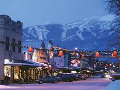 Whitefish Montana...such a cute town nestled against the Big Mountain in Montana