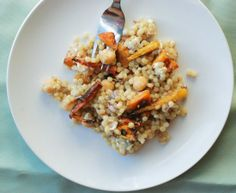 Pearl Couscous with Roasty Roots, Chickpeas, and Pepitas | The Roaming Kitchen