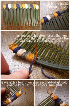 DIY colorful hair comb