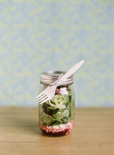 "Mason Jar ""To-Go"" Salad."
