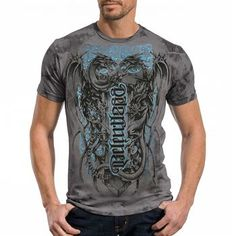 Red Chapter Men's Determined and Relentless Ambigram Tee
