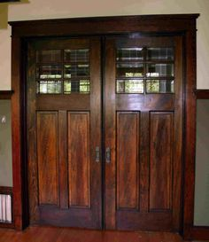 Craftsman Pocket Door...love love love for a master bedroom.