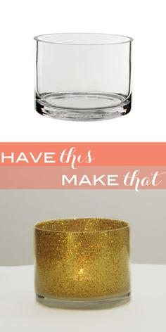 DIY: glitter candle holders