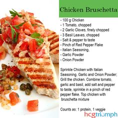 Phase 2 Bruschetta Chicken