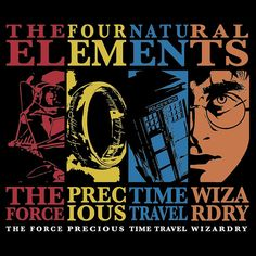 The Four Natural Elements...Geek combo geek, natur element, time travel, doctor who, movi, crossov, awesom, t shirts, space travel