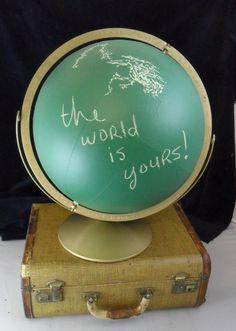 Chalkboard Globe, via Etsy.