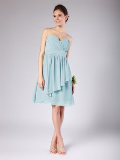 Tiered Chiffon Bridesmaid Dress | Plus and Petite sizes available! Hundreds of styles, tons of colors!