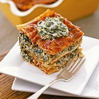 "Vegan (dairy free) spinach lasagna with tofu used to make ""ricotta"".  yum!"
