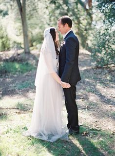 bethany + john | Annabelle Dress in mist grey by Jenny Yoo for BHLDN | via: style me pretty | #BHLDNBride
