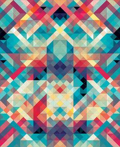 triangles - imagine this as a quilt!