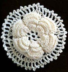 Irish Rose Motif #crochet