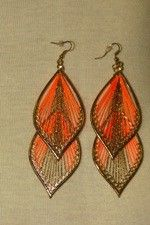 Trendy Orange Earrings