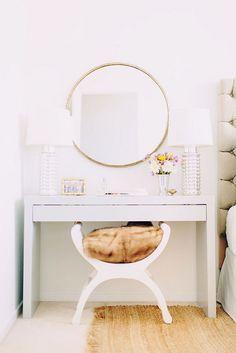 { bedside vanity } #Home #Interior #Design #Decor ༺༺  ❤ ℭƘ ༻༻  IrvinehomeBlog.com