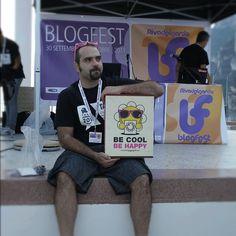 un vero onore vedere una #cromobox in mano ad un artista vero @stailuan #ta11 #blogfest