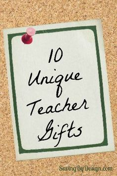 Surprise your teacher with a gift they would love to have for the end of the school year! | SavingByDesign.com