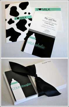 cool take on cow prints. great idea for baby boy showers, christening, or dedication. maybe great for 1st birthday too! =)