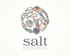 Puzzle pattern logo design: Salt Catering