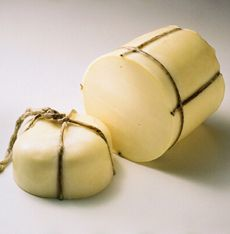 Making a Provolone style cheese