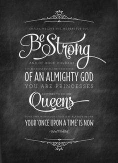 Be Strong and of Good Courage ~ Dieter F. Uchtdorf