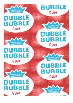 Dubble Bubble Screen Print by AntiGraphic on Etsy, $89.00