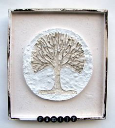 Mixed Media Family Tree Shadow Box Assemblage by Studiomoonny