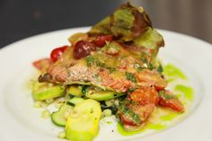 Wild King Salmon Roasted in a Corn Husk - By Chef Steven Levine