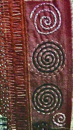 British textile artist Chris Gray i