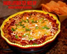 Melissa's Southern Style Kitchen: Baked Layered Tex-Mex Dip