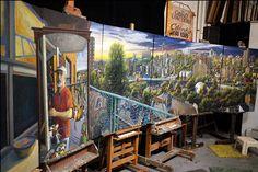 "Daniel Hauben ""Expanding Views"" Solo show. Andrew Freedman House, Bronx, NY. March 5- April 5, 2014"