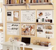 office spaces, office organization, command center, organizations, wall organization, desk areas, pottery barn, desk organization, home offices