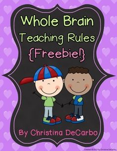 Whole Brain Teaching Classroom Rule Posters {FREEBIE}