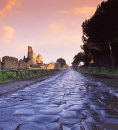 Cruising the Via Appia. Italy.