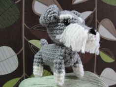crocheted schnauzer on Etsy, a global handmade and vintage