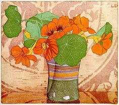 """I looked out of my window just now and saw cousin Jimmy's Nasturtium bed-- Nasturtiums, who coloured you, you wonderful, glowing thin..."