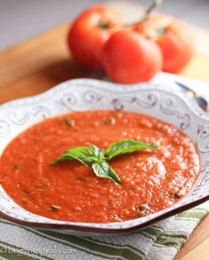 San Marzano Tomato Soup - Amazingly simple to make, healthy, low calorie soup!