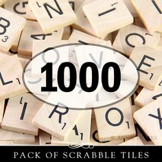 1000 Brand New Scrabble Tiles from www.anniehowes.com