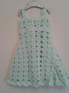 Crochet Toddler Dress - Diamond Pattern Pattern