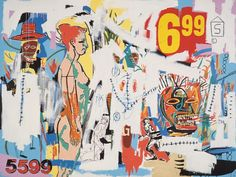 jean-michel basquiat artwork | Jean-Michel Basquiat and Andy Warhol, 6.99, 1985, Acrylic and oilstick ...