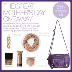 Mother's Day Giveaway from our friends at the Uber Stylish Site DOTCOMS FOR MOMS! Check out all the great gifts! Pin to Win!:)