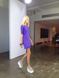 Vestido de la colección de Victoria Beckham para la primavera verano de 2013 en la semana de la moda de Nueva York - Dress by Victoria Beckham 2013 spring summer collection at the New York Fashion Week #NYFW