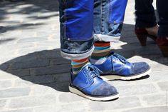 Hip-Hop Blue Suede Shoes